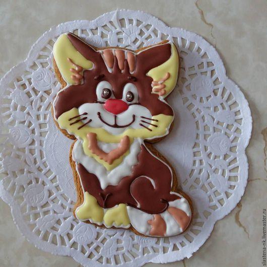 Кулинарные сувениры ручной работы. Ярмарка Мастеров - ручная работа. Купить Котик. Handmade. Рыжий, кот, мука
