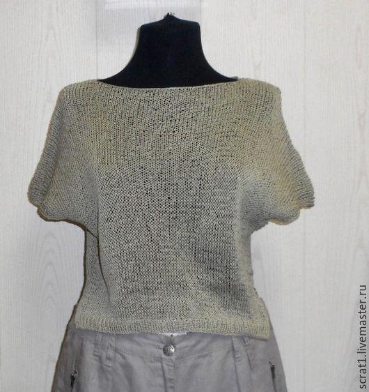 Кофты и свитера ручной работы. Ярмарка Мастеров - ручная работа. Купить Вязаный свитер Монвизо, 100% Ramia( волокно крапивы), Япония, бохо. Handmade.