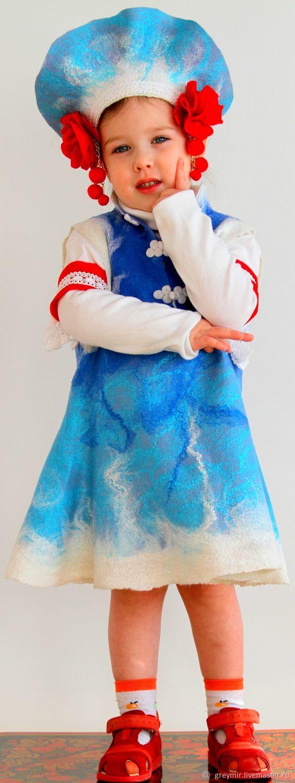 Costume Christmas felted wool Nastya, Dresses, Ivanovo,  Фото №1