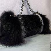 Сумки и аксессуары handmade. Livemaster - original item Bag-clutch mink. Handmade.