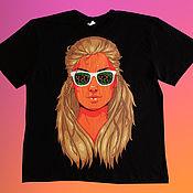Мужская одежда handmade. Livemaster - original item Hand painted t-shirt. Handmade.