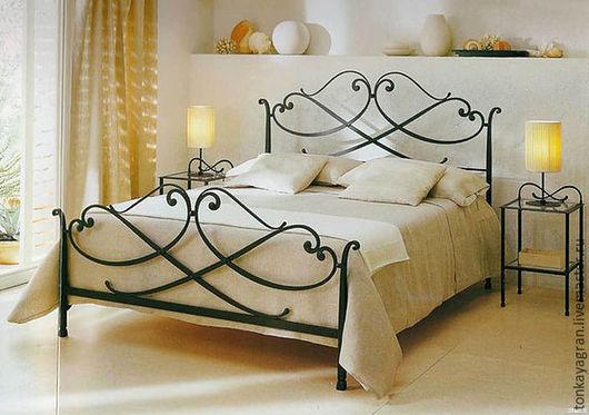 Мебель ручной работы. Ярмарка Мастеров - ручная работа. Купить Кровать кованная Модерн. Handmade. Темно-серый, металлическая фурнитура