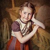 Работы для детей, handmade. Livemaster - original item Dress for girls, hand embroidery, patchwork. Handmade.
