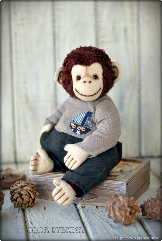 Old monkey teddy Chak, Тедди Зверята, Кулебаки,  Фото №1
