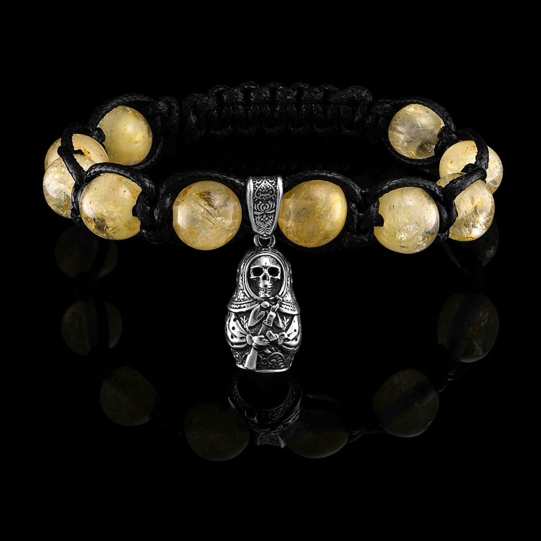 Bracelet Death a la Russe AK47 citrine, Bead bracelet, Moscow,  Фото №1