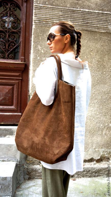 сумка из замши, замшевая сумка, большая сумка, кожаная сумка, сумка из кожи