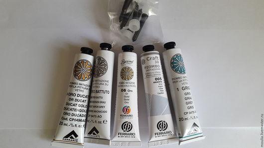 Набор 3Д рельефов-контуров для красок по стеклу(5 цветов) арт BPI001CO  3/0