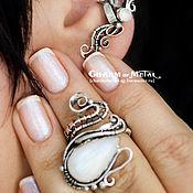 """Украшения ручной работы. Ярмарка Мастеров - ручная работа """"Niphredil"""" Серебряное кольцо с регулируемым размером. Handmade."""