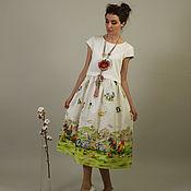 Одежда ручной работы. Ярмарка Мастеров - ручная работа Платье на кнопках (Топ Мини + Юбка Миди). Handmade.