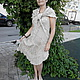 Платья ручной работы. Платье безрукавное с шалью из вареного льна. Реелика (reelika44). Интернет-магазин Ярмарка Мастеров. Однотонный