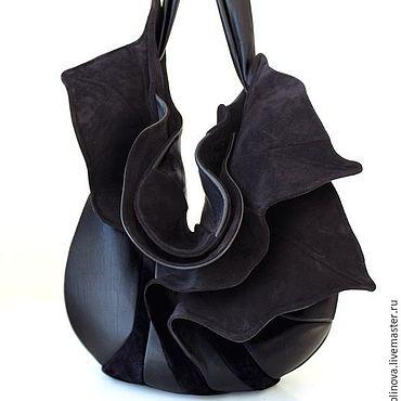 """Сумки и аксессуары ручной работы. Ярмарка Мастеров - ручная работа """"Орхидея"""" черная. Handmade."""