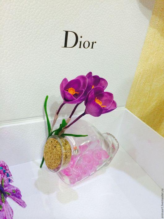 Цветы ручной работы. Ярмарка Мастеров - ручная работа. Купить Цветы из полимерной глины. Handmade. Фиолетовый, купить цветы