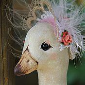 Куклы и игрушки ручной работы. Ярмарка Мастеров - ручная работа Птица Айна ( взор, взгляд, глаза). Handmade.