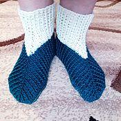 Обувь ручной работы handmade. Livemaster - original item Boots-socks for home crocheted.. Handmade.