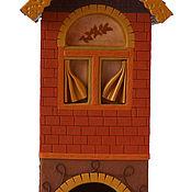 """Для дома и интерьера ручной работы. Ярмарка Мастеров - ручная работа Чайный домик из полимерной глины """"Кирпичный"""". Handmade."""