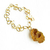 Украшения handmade. Livemaster - original item Mustard agate pendant