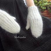 Аксессуары handmade. Livemaster - original item Down feather mittens. Handmade.