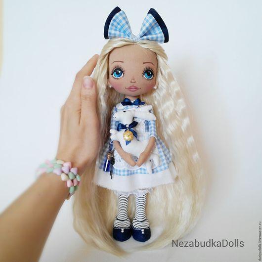 Коллекционные куклы ручной работы. Ярмарка Мастеров - ручная работа. Купить Кукла ручной работы. Алиса.. Handmade. Голубой