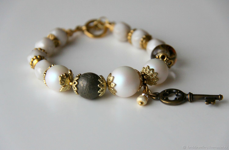 Bracelet with Swarovski pearls, Bead bracelet, Moscow,  Фото №1