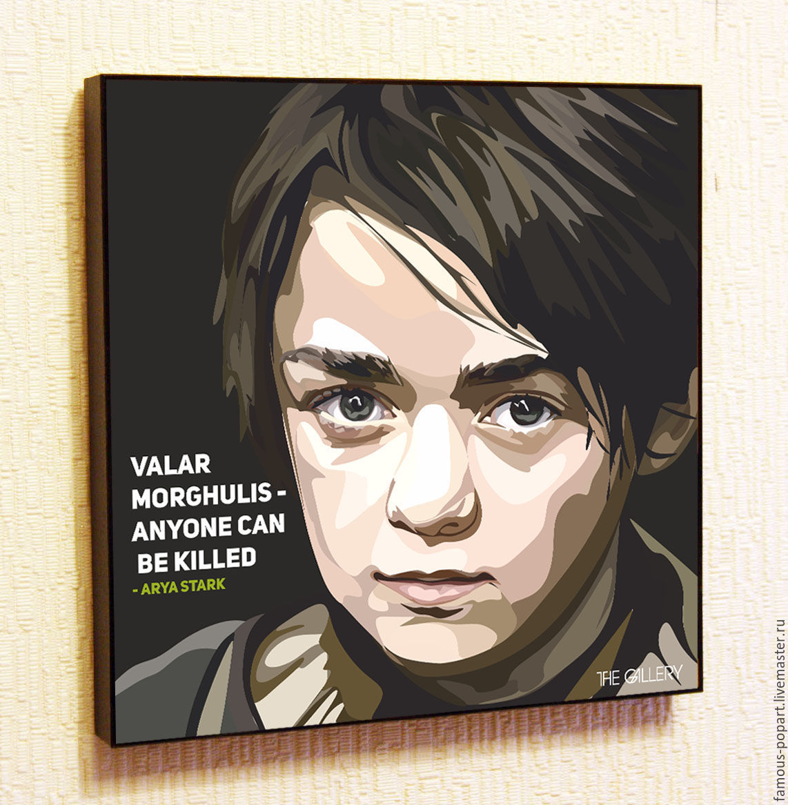 Painting Pop Art Arya Stark, Pictures, Moscow,  Фото №1