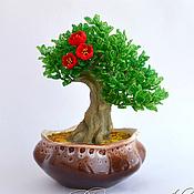 Цветы и флористика ручной работы. Ярмарка Мастеров - ручная работа Бонсай из бисера. Handmade.