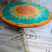 """Для дома и интерьера ручной работы. Ярмарка Мастеров - ручная работа стол """" Солнечный круг"""". Handmade."""
