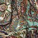 Браслеты ручной работы. Браслет с ручной росписью под павловопосадский платок. Жучкова Юлия. Ярмарка Мастеров. Павловопосадский платок, подарок