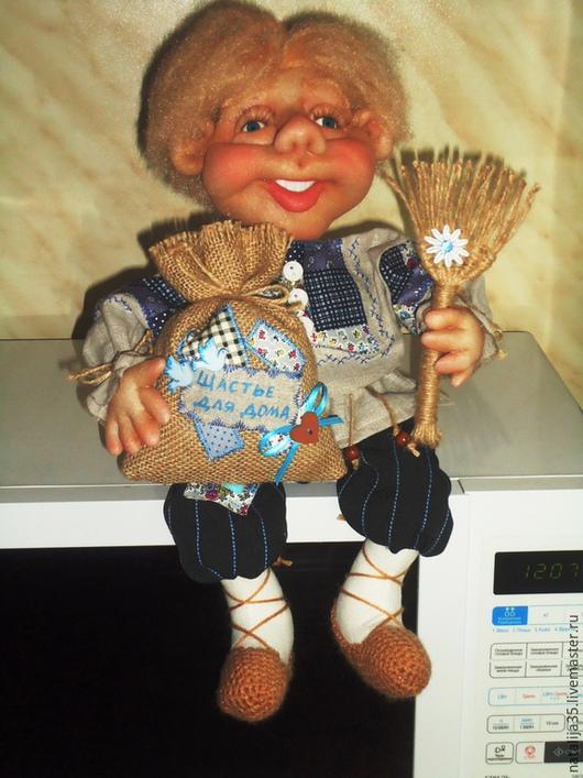 Сказочные персонажи ручной работы. Ярмарка Мастеров - ручная работа. Купить Домовенок. Handmade. Синий, кукла в подарок, село