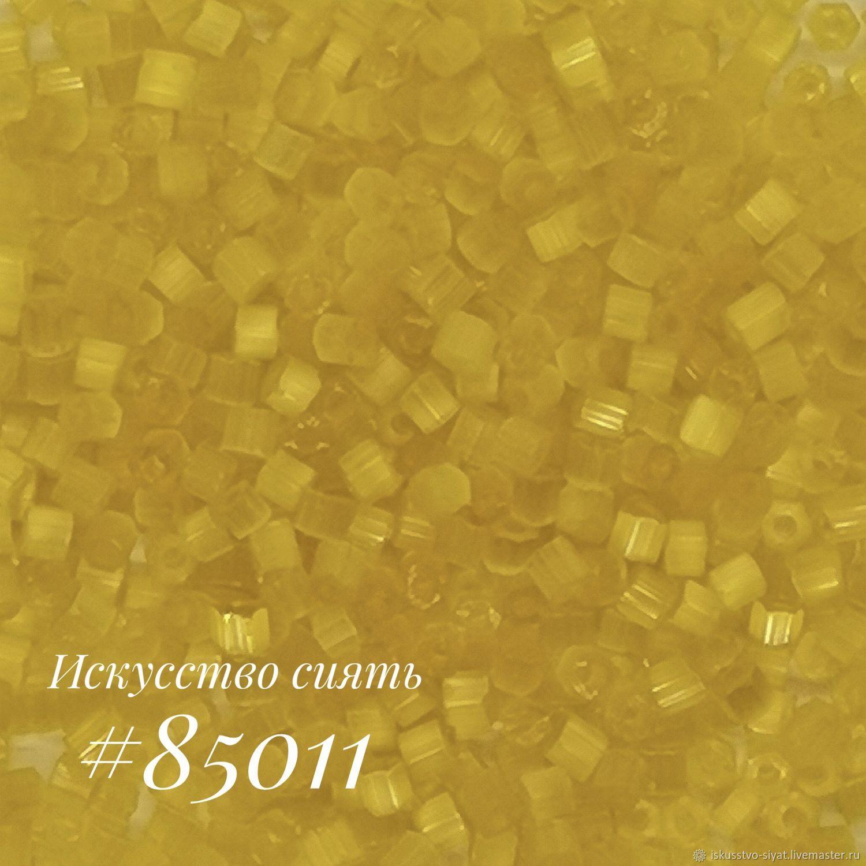 Сатиновая рубка Preciosa, Чехия, желтая насыщенная (85011), Бисер, Кострома,  Фото №1