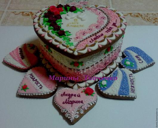 Подарки для влюбленных ручной работы. Ярмарка Мастеров - ручная работа. Купить Свадебная шкатулка  (17см). Handmade. Комбинированный, сладкий подарок