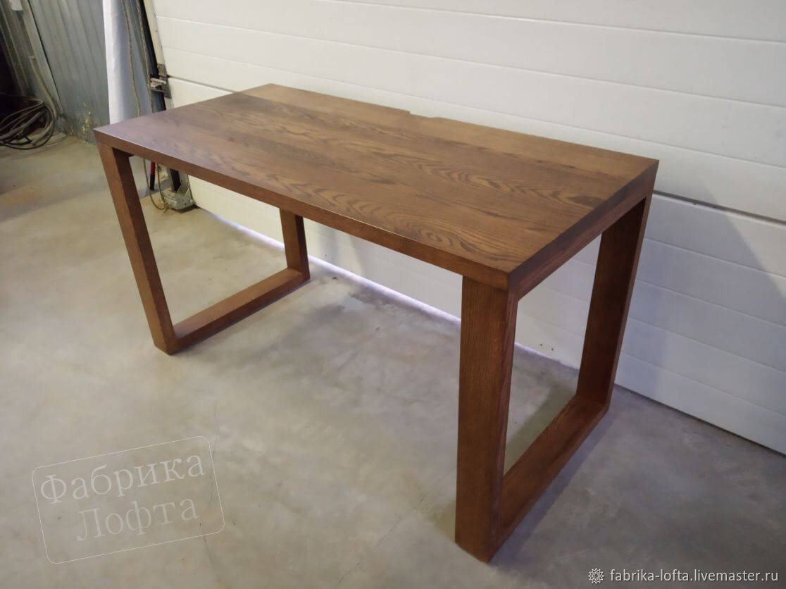 Computer table made of oak 650h1350, Tables, Moscow,  Фото №1