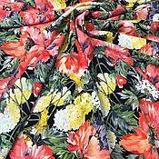 Материалы для творчества handmade. Livemaster - original item Fabric: Silk Crepe Poppies. Handmade.