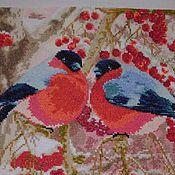 Картины и панно ручной работы. Ярмарка Мастеров - ручная работа Снегири на рябине. Handmade.