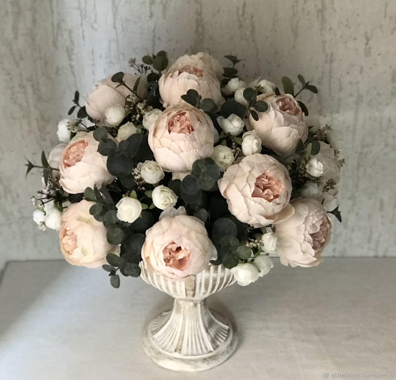 Букеты ручной работы. Ярмарка Мастеров - ручная работа. Купить Букет из декоративных цветов высокого качества. Handmade. Розы, композиция