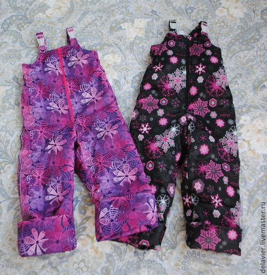 Одежда для девочек, ручной работы. Ярмарка Мастеров - ручная работа. Купить Полукомбинезоны мембранные  утепленные в ассортименте. Handmade. Полукомбинезон, флис