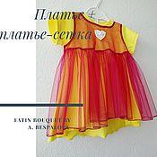 Работы для детей, handmade. Livemaster - original item Dress knitted mesh dress. Handmade.