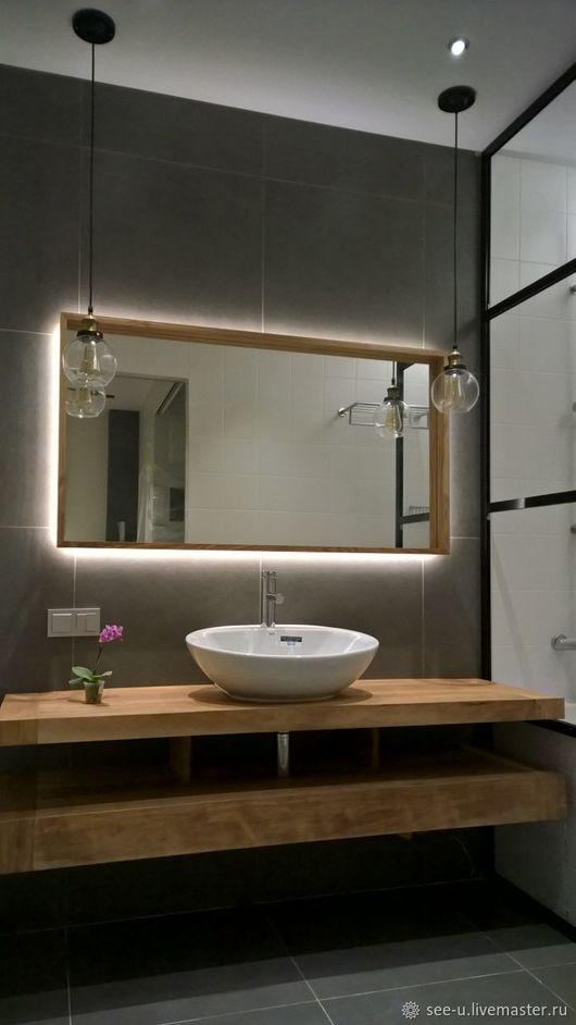 """Зеркала ручной работы. Ярмарка Мастеров - ручная работа. Купить Зеркала в ванную комнату в стиле """"Лофт"""". Handmade. Комбинированный"""
