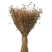 Цветы и флористика ручной работы. Ярмарка Мастеров - ручная работа Букет из пшеницы и льна. Handmade.
