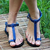 Обувь ручной работы handmade. Livemaster - original item Available Sandals of badgers through the finger. Handmade.