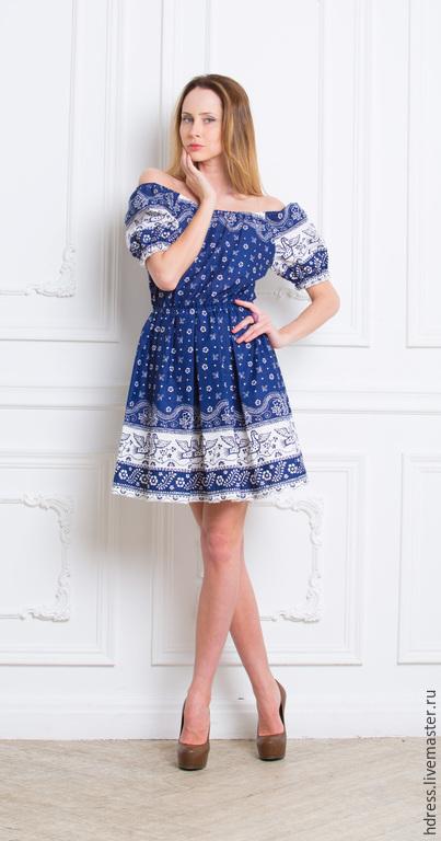 """Платья ручной работы. Ярмарка Мастеров - ручная работа. Купить Короткое платье """"Гуси-лебеди"""". Handmade. Платье летнее, платье"""