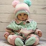 Работы для детей, handmade. Livemaster - original item Baby knitted jumpsuit clothes newborn baby girl boy toddler. Handmade.