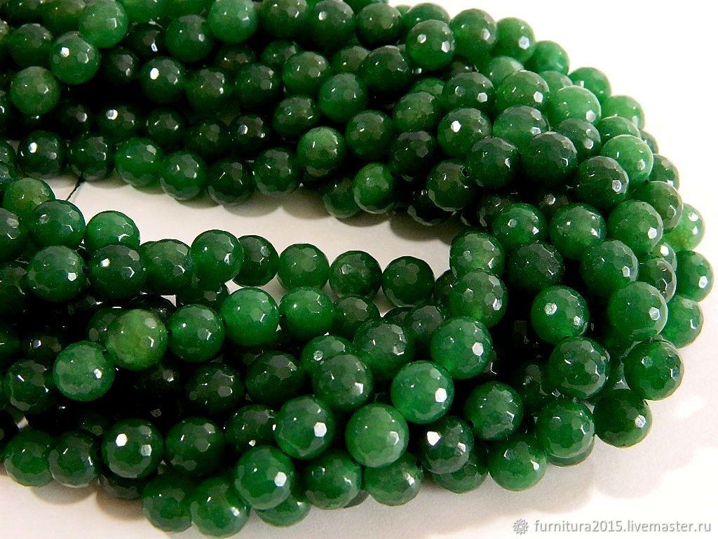Агат 10 мм, граненый, зеленого цвета. За шт, Бусины, Саратов,  Фото №1