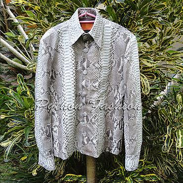 Одежда ручной работы. Ярмарка Мастеров - ручная работа Рубашка из питона PREMIER. Handmade.