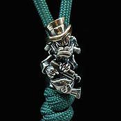 Материалы для творчества handmade. Livemaster - original item Beads: Scrooge McDuck Paracord Bead, Bimetal Knife Bead. Handmade.