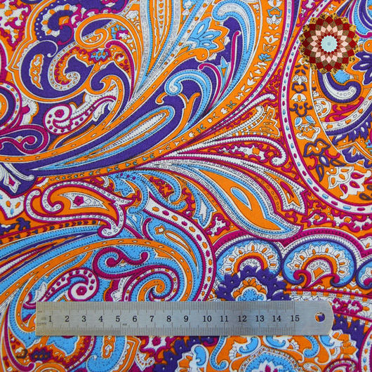 Ткань хлопок `Индийский огурец малиновый`. Код товара: ZT-00046