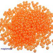 Материалы для творчества handmade. Livemaster - original item 10 grams of 10/0 seed Beads, Czech Preciosa 17189 Premium orange nephros pearl. Handmade.