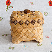Для дома и интерьера handmade. Livemaster - original item Casket from birch bark braided. Herb storage box, crafts. Handmade.
