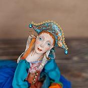 Куклы и игрушки ручной работы. Ярмарка Мастеров - ручная работа Коллекционная кукла Коломбина подвижная кукла (будуарная). Handmade.