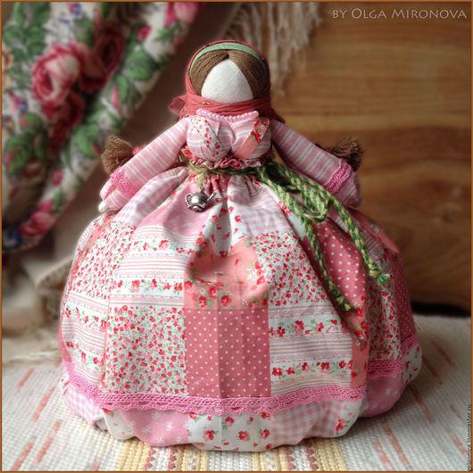 Народные куклы ручной работы. Ярмарка Мастеров - ручная работа. Купить Купчиха на чайничек. Handmade. Розовый, одежка на чайник, шерсть