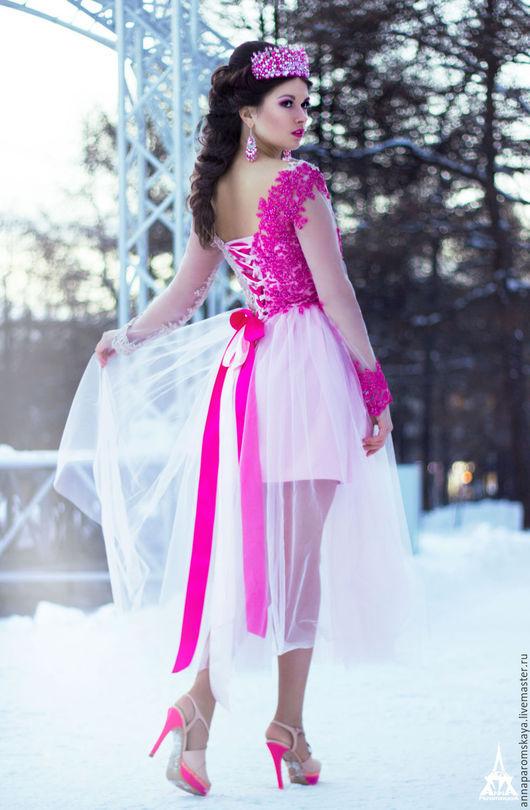 """Платья ручной работы. Ярмарка Мастеров - ручная работа. Купить Платье """"Bell"""". Handmade. Комбинированный, платье с длинным рукавом"""
